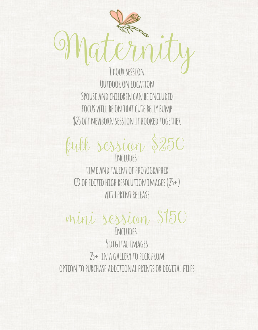 website pricing maternity updated new